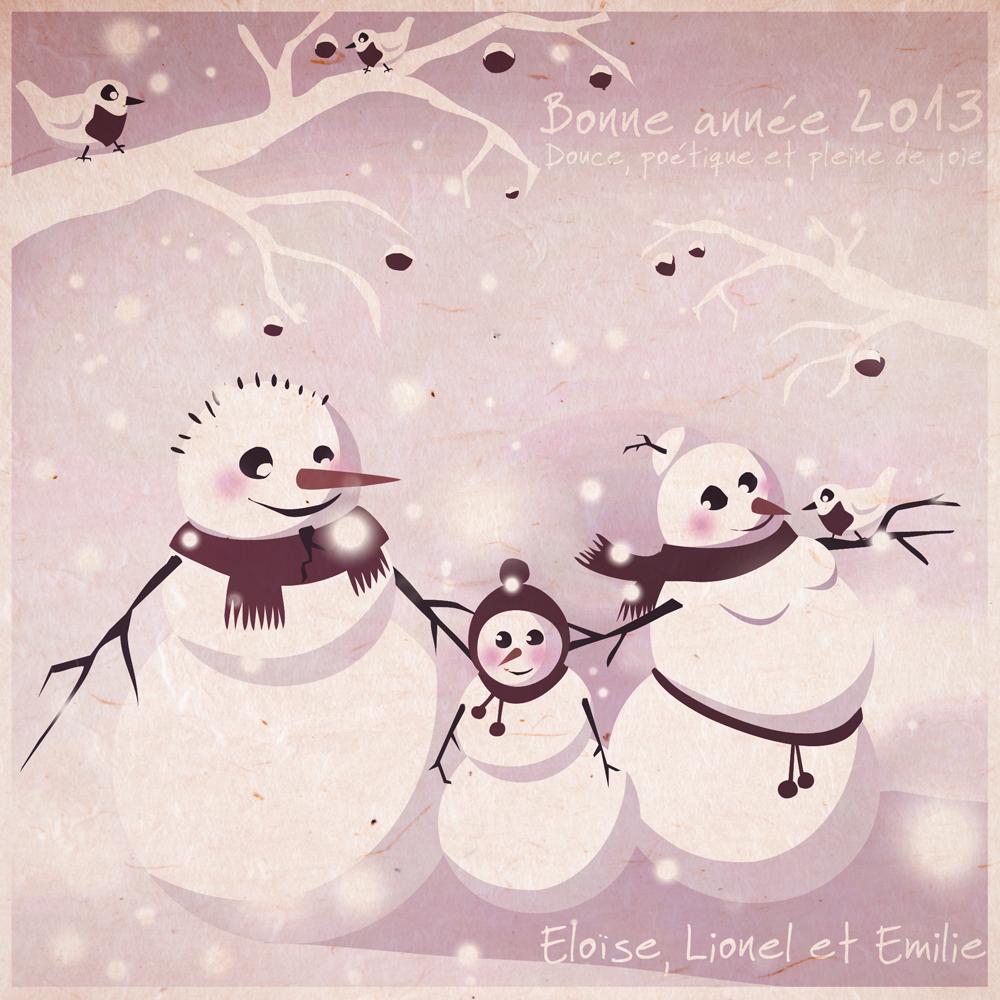 Bonne Année bonhomme-de-neige